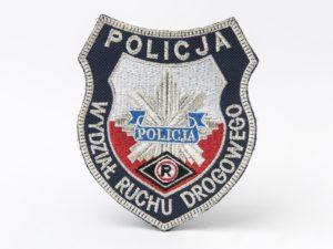 Naszywka policyjna tarcza - Wydział ruchu drogowego