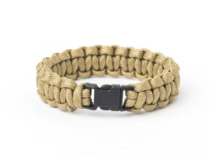 Bransoletka Helikon Survival Paracord Coyote