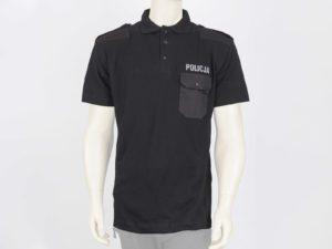 Koszulka polo czarna z napisami