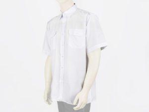 Koszula biała służbowa z krótkim rękawem