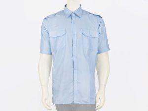 Koszula niebieska służbowa z krótkim rękawem