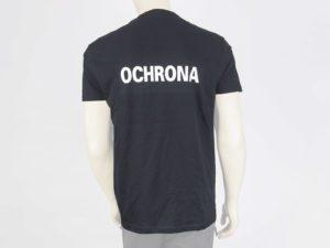T-shirt czarny z białymi napisami