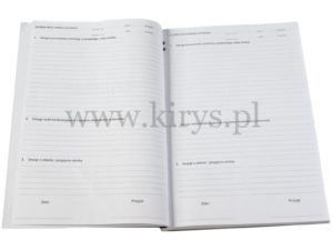 Książka przyjęcia i zdania służby