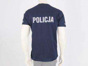 T-shirt granatowy z napisami