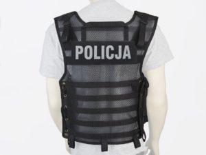 Kamizelka taktyczna policyjna czarna siatkowa