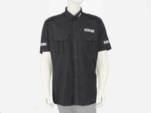 Koszula służbowa czarna z napisem