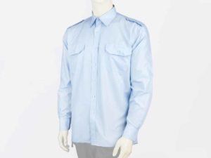 Koszula niebieska służbowa z długim rękawem