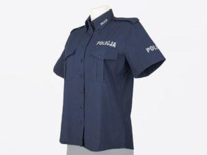 Koszula policyjna granatowa damska z krótkim rękawem