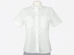 Koszula biała policyjna damska z krótkim rękawem