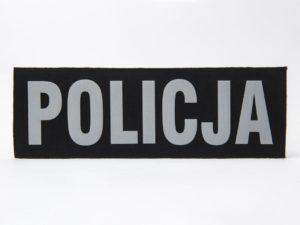 Napisy POLICJA na rzep komplet