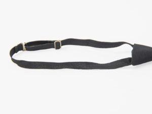 Krawat bezpieczny czarny na gumkę